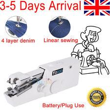 Mini Portable Household Handy Stitch Electric Handheld Sewing Machine Plug Using
