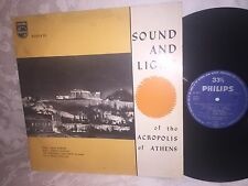 SOUND AND LIGHT OF THE ACROPOLIS OF ATHENS - RARE PHILIPS LP - GREEK IMPORT