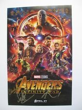 AVENGERS INFINITY WAR CAST SIGNED 11X17 PHOTO HEMSWORTH BOSEMAN 9+ DC/COA PROOF