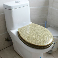 Fashion Gold Color Bath Accessories Safety Resin Toilet Seat Nice Decoration