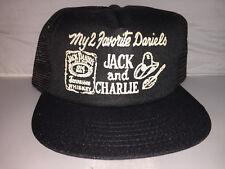 Vtg Jack Daniels Charlie trucker Snapback MADE IN USA hat cap whiskey country