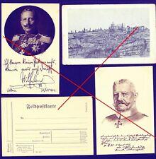 Kaiser Wilhelm II. Coblenz 1914 GFM Hindenburg Feldbäckerei Kolonne 50 Vauquois