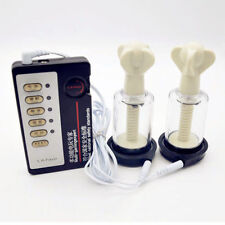 Electro Shock Pulse E-Stim Nipple Stimulation Cup & Twist Suction Pump Enlarger