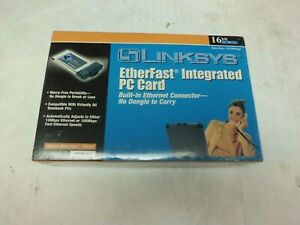 LinkSys PCM100 Ver.2 Etherfast ETHERNET PCMCIA 10/100mbps NEW IN BOX