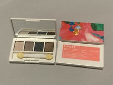 Clinique All About Eye shadow Quad with brush compact travel size 0.8oz/2g