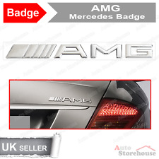 AMG Boot Badge Emblem for Mercedes C CL CLK SLK S SL E CLASS [ Chrome ] [ Rear ]
