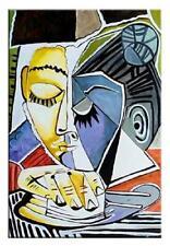 """Pablo Picasso """"Der Kopf des Lesers Frauen"""" Gemälde Ölbild Bild Bilder G00785"""