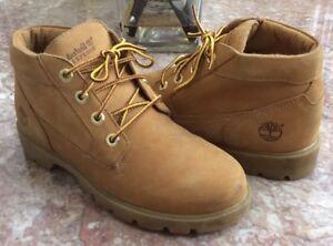 Timberland Basic Chukka Men's Wheat Nubuck Waterproof Boots Size 5 #19944M EUC
