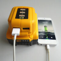 12V/20V Max USB Power Source For Dewalt DCB090 Cordless Phone USB Charger Yellow