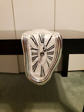 Surreal Dali Painting Melting Small Shelf Clock Home Art Decoration
