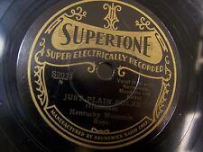 Supertone KENTUCKY MOUNTAIN BOYS Just Plain Folks BLUEGRASS Hillbilly PREWAR 78