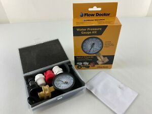 Flow Doctor Water Pressure Gauge Kit, All Purpose, 6 Parts Kit, 0 to 200 Psi