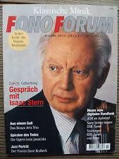 Fono Forum 7/95. Sony St sa 3 lo representa, ya que 5 es, conversación isaac stern, retrato Brubeck