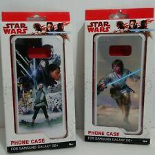 Lot (2) Samsung Galaxy S8 Plus Star Wars Cell Phone Case Luke Skywalker Jedi NEW