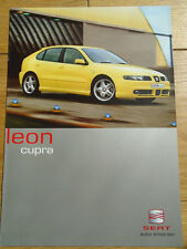 Seat Leon Cupra range brochure Feb 2001 German text