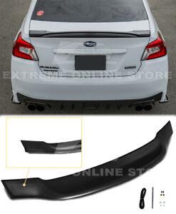 For 15-21 Subaru WRX STi Rear Trunk Lid Wing Spoiler High-Kick Style Duckbill