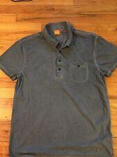 Hugo Boss Men's Blue/Gray Light Weight Cotton Polo T Shirt Sz XL