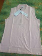original Lacoste Poloshirt ohne Arm, rosa, Gr. XL- USA 14, Neu