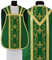 Pianeta Verde con stola R032-Z25 Casula Romana Paramento liturgico VARI COLORI