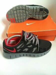 Nike free run 2 mens trainers Size 7.5 authentic 100% black originals