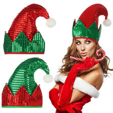 Funny Green Red Christmas Hat Santa Claus Beanies Elf Hat Masquerade Party Decor