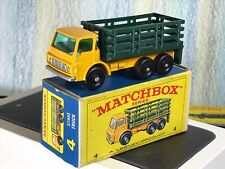 Matchbox Lesney No. 4d Dodge Stake Truck 6BPW dark yellow VNMinNMBox green sides
