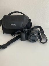 Sony Alpha a6000 Mirrorless Camera w/16-50mm interchangeable lens. Includes bag.