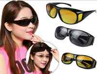 Fashion Over Wrap Around Glasses HD Night Vision Unisex Driving Sunglasses Hot F