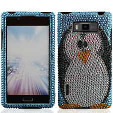For LG Optimus Showtime L86c Crystal Diamond BLING Hard Case Phone Cover Penguin
