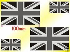 Union Flag Jack GB Set of 4 Decal Stickers Monochrome