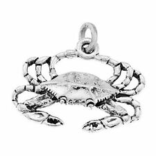 925 STERLING SILVER NEW ORLEANS BLUE CRAB CHARM/PENDANT