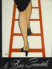Spanish Advertising LE BAS SCANDALE NYLON STOCKINGS 1940 Advertisemen Matted