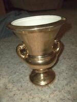 "Excellent HAEGER Warranted Gold Urn Vase 9 x 7 1/2"" Mid Century"