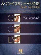 3-Chord Hymns for Guitar Sheet Music Play 30 Hymns with 3 Easy Chords! 000703084