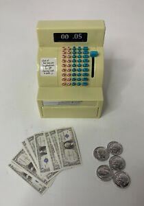 American Girl Cash Register with bills and coins - Maryellen's Seaside Diner EUC