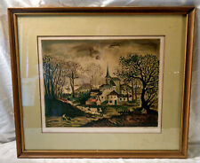 Raffy Le Persan 1968 Watercolor Framed SIGNED Litho Print Numbered Limited 87