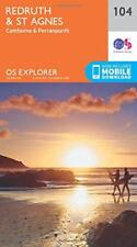 OS Explorer Map (104) Redruth and St Agnes by Ordnance Survey, NEW Book, FREE