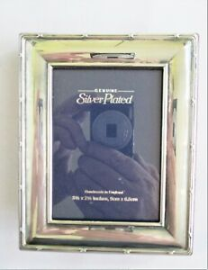 Silver Plated Picture Frame. For 9cm x 5.5cm print