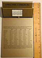 Vintage 1950 Rotating Years Table Top or DESK CALENDAR book Clipper -- 1016