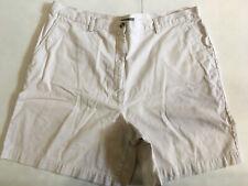 Eddie Bauer Women's Solid White Cotton Shorts Size: 20 $98