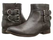 Frye Womens Charcoal Brown Leather Molly D Ring Short Side Buckle Ankle Boots 6