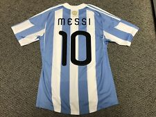 2010 Argentina Messi 10 Adidas Jersey M Medium South Africa World Cup Shirt Kit