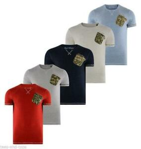 Rock & Revival Speckle Marl Crew Neck T-shirt Camouflage Pocket R707140