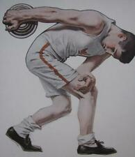 ORIG 1906 COLLIER'S LITHO ART PRINT ATHLETIC OLYMPIC DISCUS THROWER LEYENDECKER