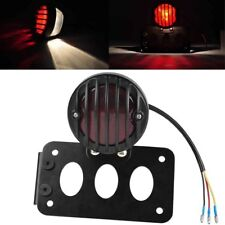 Grill Side Mount Motorcycle Brake Tail Light License Plate Bracket For Harley BE