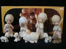 Precious Moments-9 Piece Large Nativity Set With BOX