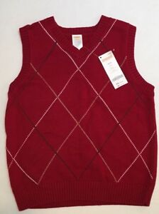 NWT Gymboree Holiday Traditions S 5-6 Cranberry Red Diamond Holiday Sweater Vest