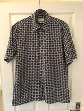 Yves Saint Laurent Men's Short Sleeve Shirt Large L YSL Spotted Groovy Rare 90's