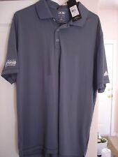 ADIDAS Golf Shirt Polo XL Gray  Marshall Faulk Celebrity Championship NWT