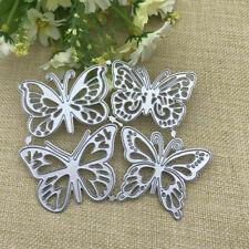 4-Butterflies Metal Cutting Dies Stencil DIY Scrapbooking Paper Card Craft Gift
